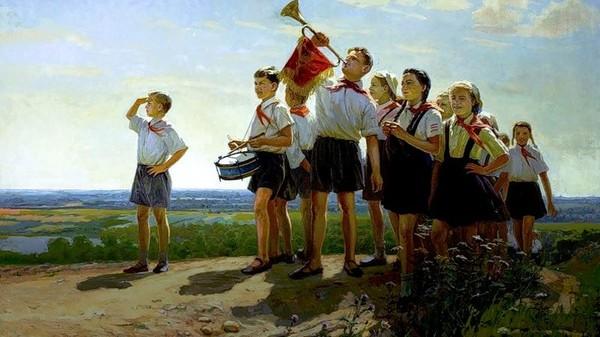 СССР-песни  у костра  (пионерский лагерь)